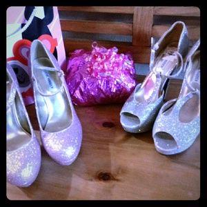 Steve Madden Glitter Shoes Combo!!!!!